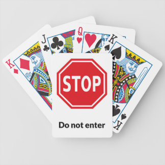 Stop do no enter bicycle playing cards