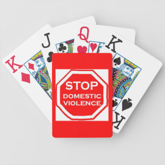 Stop Domestic Violence Bicycle Playing Cards