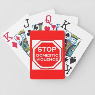 Stop Domestic Violence Poker Deck