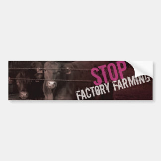 Stop Factory Farming - Pink Bumper Sticker