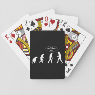 Stop Following Me Playing Cards