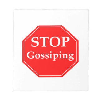 Stop Gossiping #2 Notepad