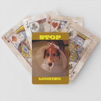 Stop Looking. Bicycle Playing Cards