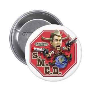 Stop Mad Cowboy Disease Pin