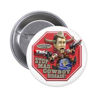 Stop Mad Cowboy Disease Button