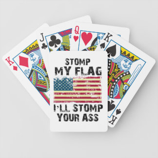 stop my flag i will stomp your bicycle playing cards