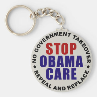Stop Obamacare Basic Round Button Key Ring