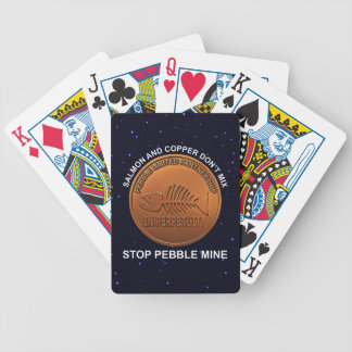 Stop Pebble Mine - Pebble Mine Penny Bicycle Playing Cards
