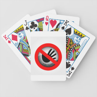 Stop Racism Bicycle Playing Cards