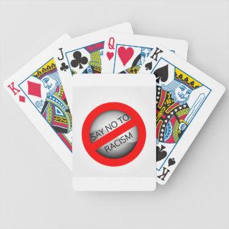 Stop racism poker deck