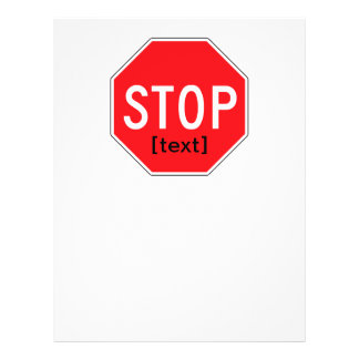 Stop Sign for a Cause Flyer