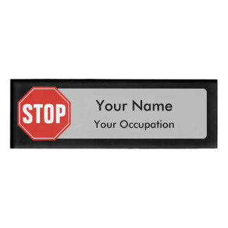 STOP Sign Name Tag