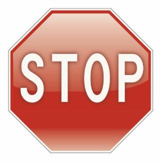 Stop sign photo sculpture decoration