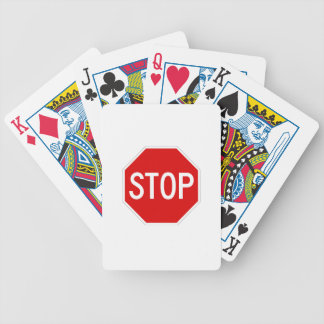 Stop sign poker deck