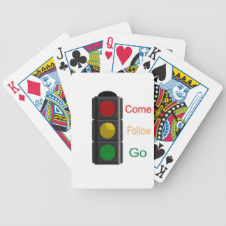 Stop Street Light Bicycle Playing Cards