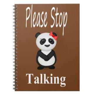 Stop Talking Panda Notebook