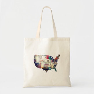 """""""STOP Testing on Animals in the United States"""" Budget Tote Bag"""