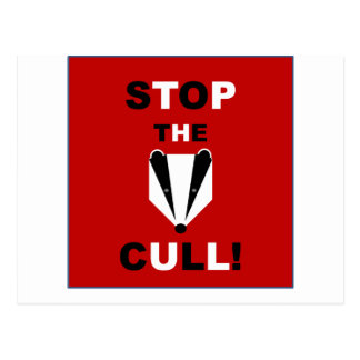 STOP THE BADGER CULL POSTCARD