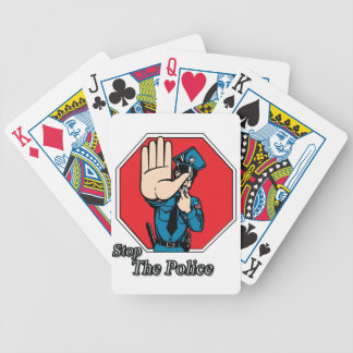 Stop the police bicycle playing cards