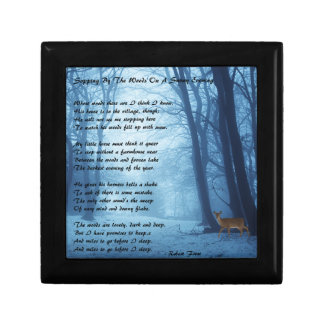 Stopping By The Woods by: Robert Frost Small Square Gift Box