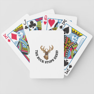 Stops Here Bicycle Playing Cards