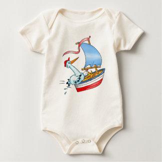 Stork in Sailing Boat - Kid's T-shirt
