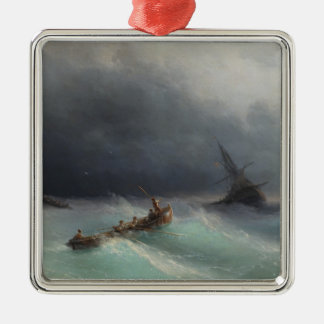 Storm at Sea Ivan Aivasovsky seascape waterscape Christmas Ornament