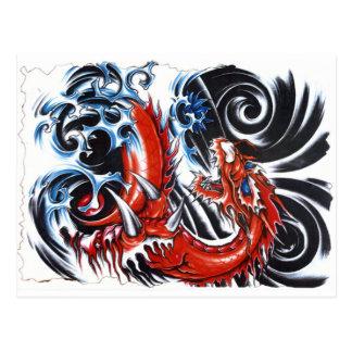 Storm Dragon Postcard
