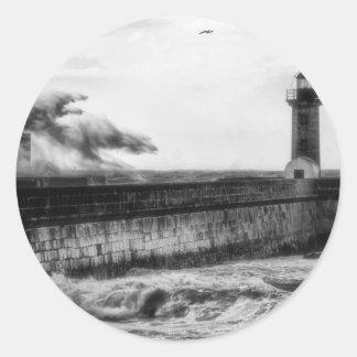 Stormy days... classic round sticker