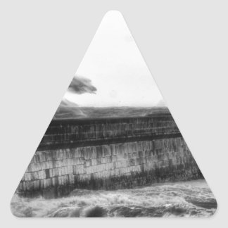 Stormy days... triangle sticker