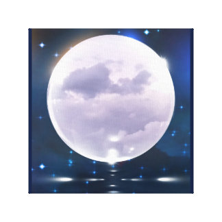 Stormy Moon Canvas Print