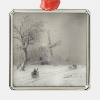 Stormy Seas off a Rocky Coast  Ivan Aivazovsky sea Christmas Ornament