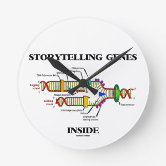 Storytelling Genes Inside (DNA Replication) Round Clock