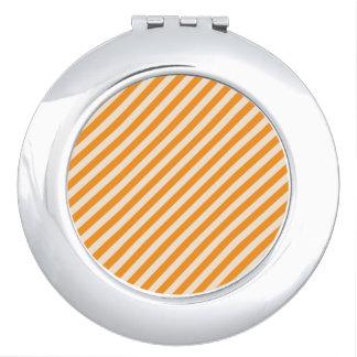 [STR-OR-1] Orange and white striped Makeup Mirrors