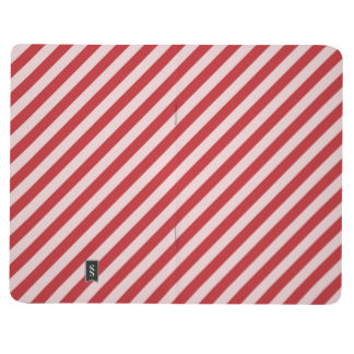 [STR-RD-1] Red and white candy cane striped Journals