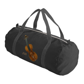Stradivari Violin with Custom Monogram Gym Bag