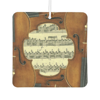 Stradivari Violins Bach Partita Music Manuscript Car Air Freshener