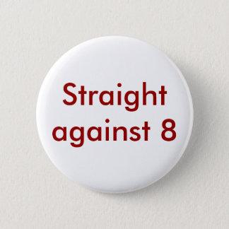 Straight against 8 6 cm round badge
