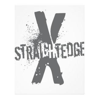 Straight Edge X dark grey Custom Flyer
