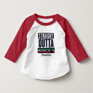 Straight Outta Bosco's Italian Red Raglan Baby T-Shirt