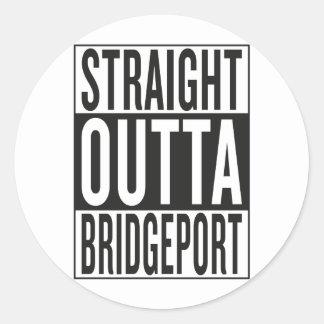 straight outta Bridgeport Classic Round Sticker