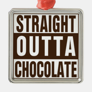 Straight Outta Brown Chocolate Christmas Ornament