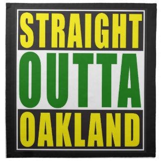 Straight Outta Oakland Green Napkin