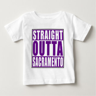 Straight Outta Sacramento Purple Baby T-Shirt