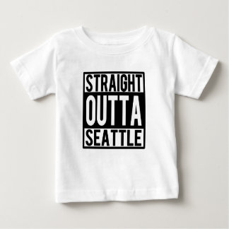 Straight Outta Seattle funny baby shirt