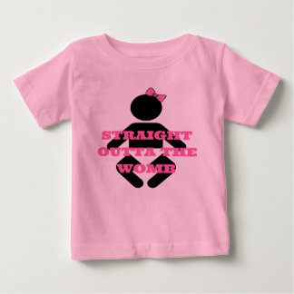 Straight Outta the Womb Pink Baby girls shirt