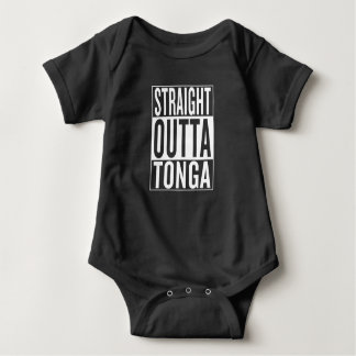 straight outta Tonga Baby Bodysuit