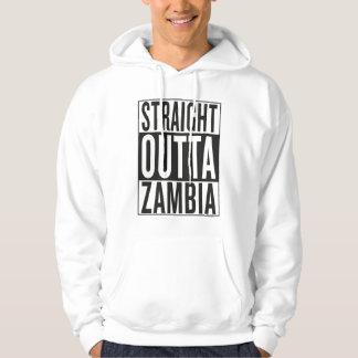 straight outta Zambia Hooded Sweatshirts