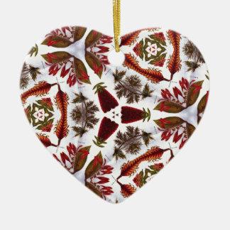 Strange Art Vintage Flower Drawing Kaleidoscope Christmas Ornament