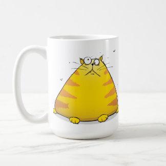 Strange Fat Cat Coffee Mug Gift Thing